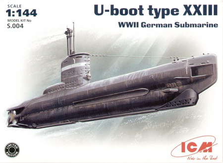 Modell Ubåt - U-Boot Type XXIII - ICM - 1:144