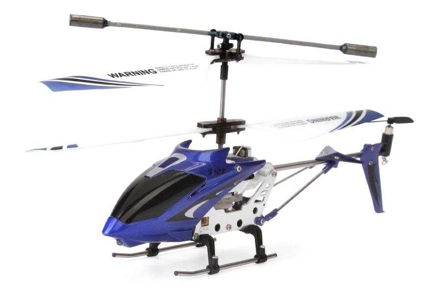 Radiostyrd helikopter - Syma S107G Blå - 3,5ch - RTF