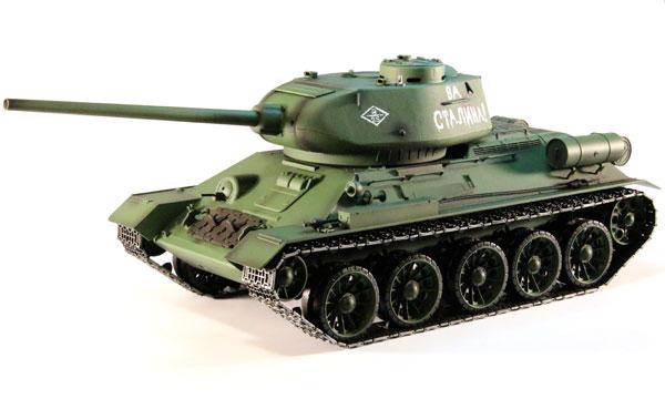 Radiostyrd stridsvagn - 1:16 - T-34 - 2,4Ghz - s.airg. rök & ljud - RTR