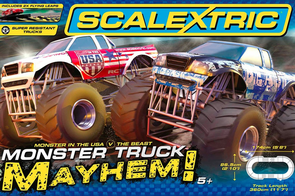 Scalextric bilbana - Monster Truck Mayhem - 1:32 - Inkl. 2 Bilar