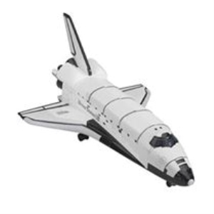 Space shuttle  (pre pained metal and plastic, EASY BUILD) - 1:180