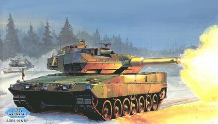 Byggmodell Stridsvagn - Swedish Strv. 122 Leopard - HobbyBoss - 1:35