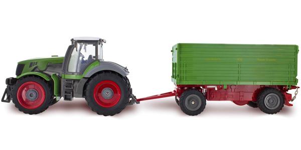 Radiostyrd Traktor - 1:28 Traktor m Tipflak - Grön - RTR