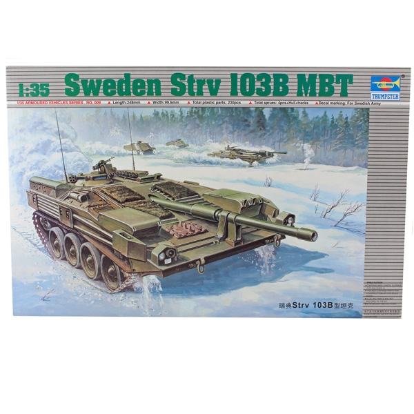Byggsats Stridsvagn - SWEDEN STRV 103 B MBT - 1:35 - Trumpeter