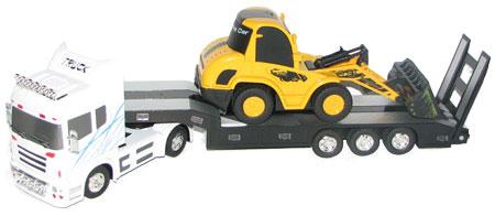 RC arbetsfordon paket - Lastbil Vit + Frontlastare - 1:32 - RTR