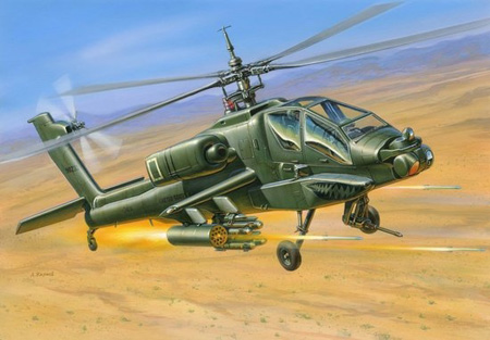 Modellhelikopter - AH-64 Apache USAttack helicopter - 1:144 - Zvezda